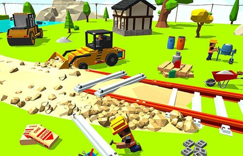 Construct Railroad Euro Train Android Mobile Phone Game Image 2