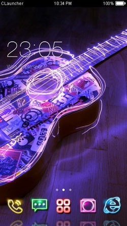 Guitar CLauncher Android Theme Image 1