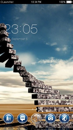 Stairs CLauncher Android Theme Image 1