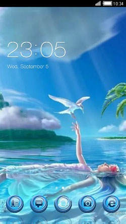 Fairy CLauncher Android Mobile Phone Theme Image 1