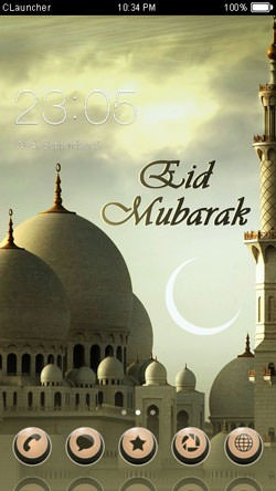 Happy Eid CLauncher Android Theme Image 1