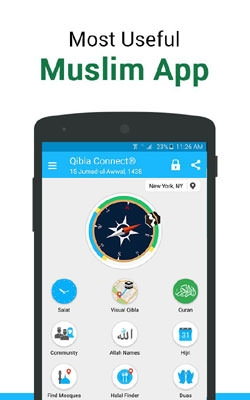 Qibla Connect® Find Direction Android Mobile Phone Application Image 1