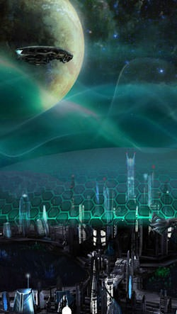 Deep Space Colony Android Wallpaper Image 1