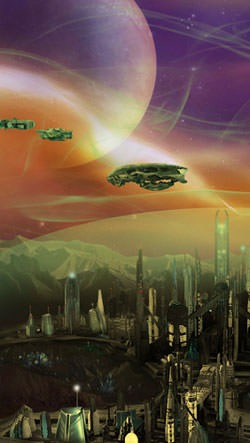 Deep Space Colony Android Wallpaper Image 2