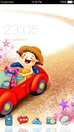 Cartoon CLauncher Android Theme Image 1