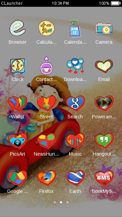 Cartoon CLauncher Android Theme Image 2