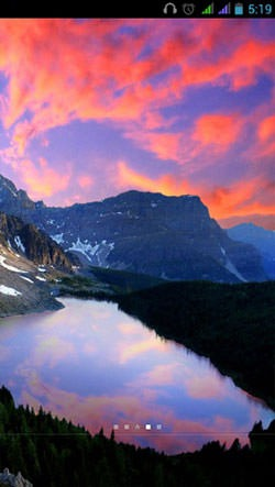 Mountain Lake Android Wallpaper Image 1