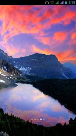 Mountain Lake Android Mobile Phone Wallpaper Image 1