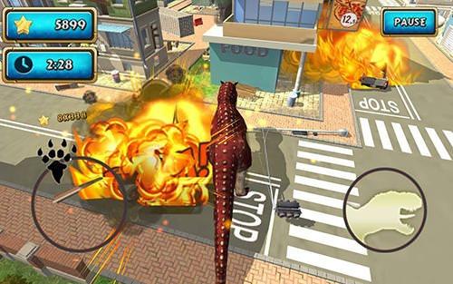 Dinosaur Simulator 2: Dino City Android Mobile Phone Game Image 2