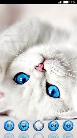 White Cat CLauncher Android Theme Image 1