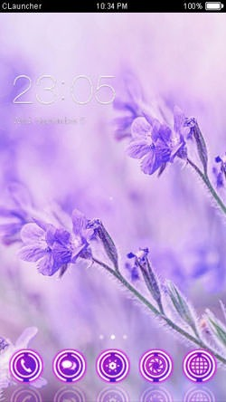 Purple CLauncher Android Theme Image 1