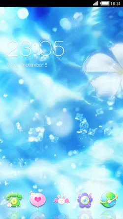 Blue Love CLauncher Android Mobile Phone Theme Image 1
