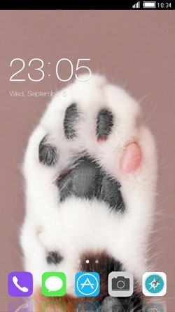 Paw CLauncher Android Mobile Phone Theme Image 1