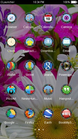 Flowers CLauncher Android Mobile Phone Theme Image 2