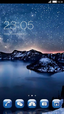 Night CLauncher Android Mobile Phone Theme Image 1