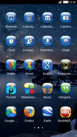 Night CLauncher Android Mobile Phone Theme Image 2