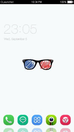 Shades CLauncher Android Mobile Phone Theme Image 1