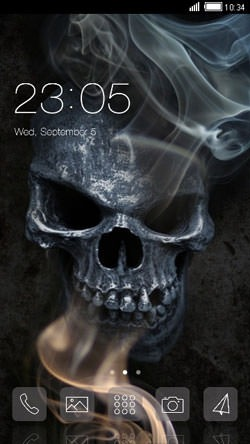 Dark Skull CLauncher Android Theme Image 1