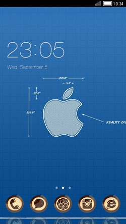 Apple CLauncher Android Theme Image 1