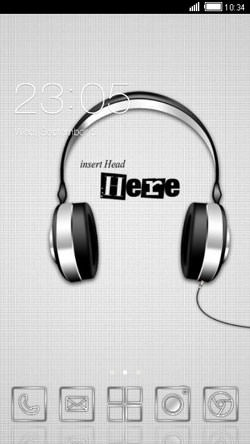 Headphones CLauncher Android Theme Image 1