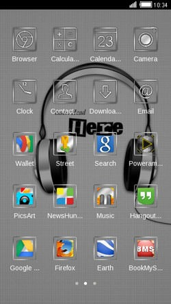Headphones CLauncher Android Theme Image 2