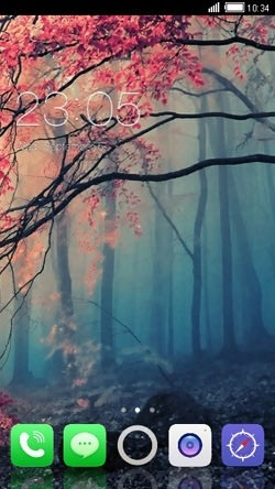 Forest CLauncher Android Mobile Phone Theme Image 1