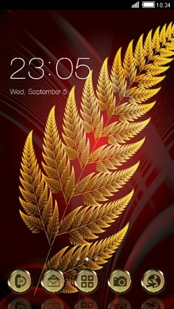 Leaf CLauncher Android Mobile Phone Theme Image 1