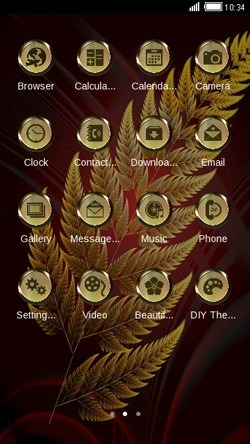 Leaf CLauncher Android Mobile Phone Theme Image 2