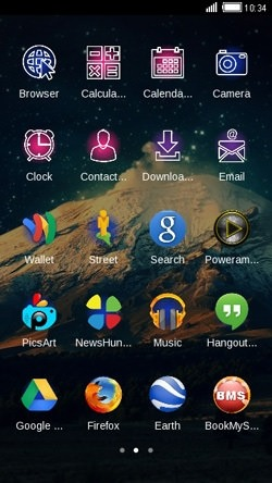 Mountain CLauncher Android Mobile Phone Theme Image 2