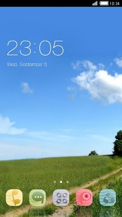 Nature CLauncher Android Mobile Phone Theme Image 1