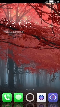 Trees CLauncher Android Mobile Phone Theme Image 1