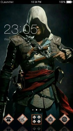 Assassin CLauncher Android Theme Image 1