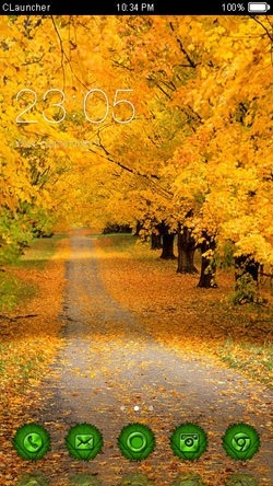 Autumn CLauncher Android Mobile Phone Theme Image 1