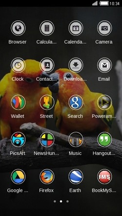 Love Birds CLauncher Android Mobile Phone Theme Image 2