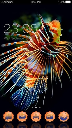 Pterois CLauncher Android Mobile Phone Theme Image 1