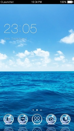 Sea CLauncher Android Theme Image 1
