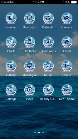 Sea CLauncher Android Theme Image 2