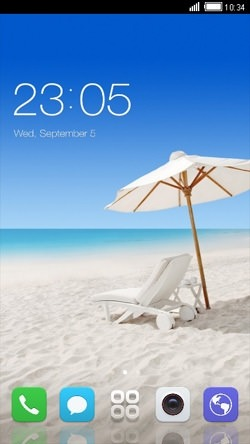 Beach CLauncher Android Mobile Phone Theme Image 1