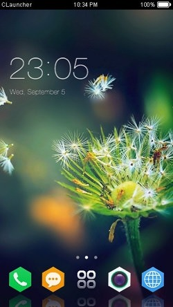 Dandelion CLauncher Android Mobile Phone Theme Image 1