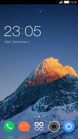 Mountain CLauncher Android Mobile Phone Theme Image 1