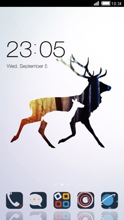 Deer CLauncher Android Theme Image 1