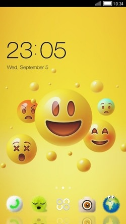 Emoji CLauncher Android Mobile Phone Theme Image 1