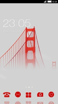 Golden Gate Bridge CLauncher Android Theme Image 1
