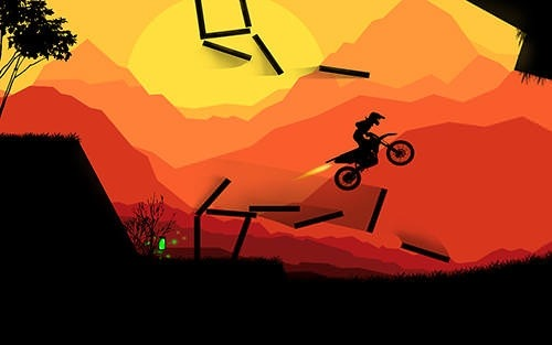 Sunset Bike Racer: Motocross Android Mobile Phone Game Image 2