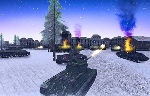 Tank Battle 3D: WW2 Warfare Android Game Image 1
