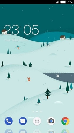 Winter CLauncher Android Mobile Phone Theme Image 1