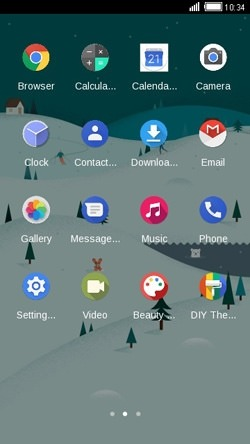Winter CLauncher Android Mobile Phone Theme Image 2