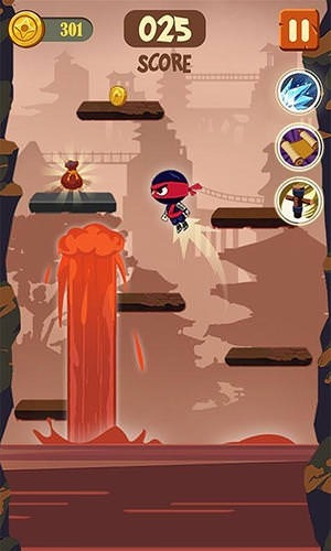 Brave Ninja Android Mobile Phone Game Image 1