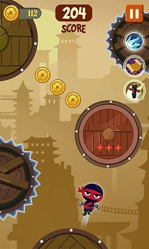 Brave Ninja Android Mobile Phone Game Image 2
