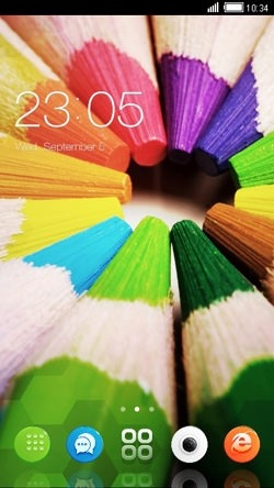 Color Pencils CLauncher Android Theme Image 1